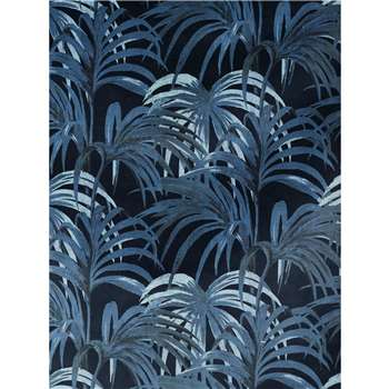 House of Hackney - Palmeral Wallpaper, Black/Blue (300 x 135cm)