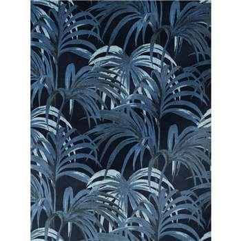 House of Hackney - Palmeral Wallpaper, Black/Blue (300 x 135cm)