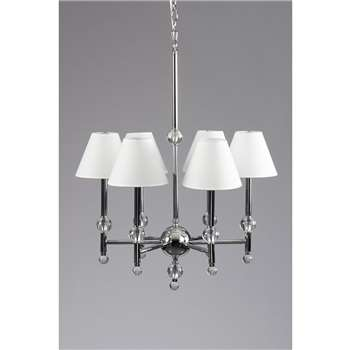 Paloma Six Light Crystal Pendant (H150 x W61 x D61cm)