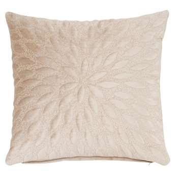 PALOMA - Textured Beige Cotton Cushion Cover (H40 x W40cm)