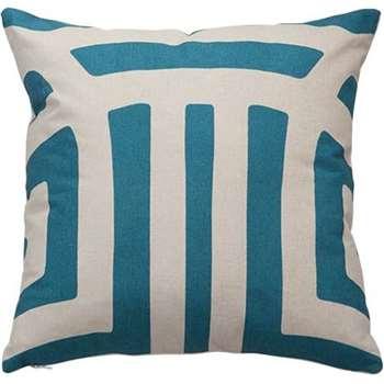 Paloma Velvet Reverse Printed Cushions, Blue (45 x 45cm)