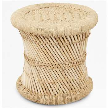 Pampas Stool - Natural (H38 x W40 x D40cm)