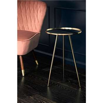 Panatella Brass Side Table (H60 x W38 x D38cm)