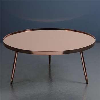 Panatella Copper Coffee Table (35 x 80cm)