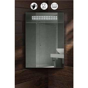 Panoramic Illuminated LED Bathroom Mirror Corner Cabinet (60 x 40cm)