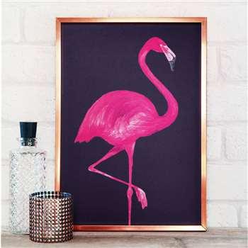 Paper Plane - Flamingo Print, A4 (29.7 x 21cm)