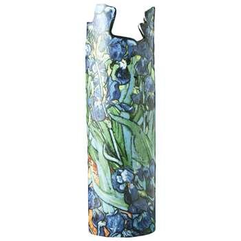 Parastone for John Beswick Van Gogh Irises Vase (H22 x W8 x D8cm)