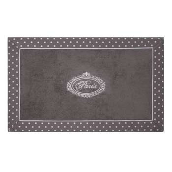 PARIS cotton bath mat in grey (50 x 80cm)