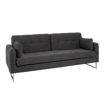Paris three seater sofa bed charcoal fabric (90 x 230cm)