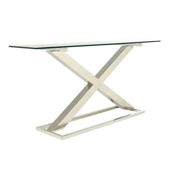 Park Console Table - Metal/Glass (82 x 178cm)