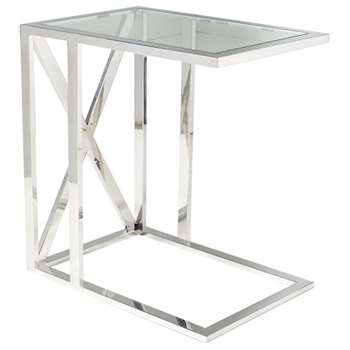 Park Side Table - Metal/Glass (58 x 55cm)