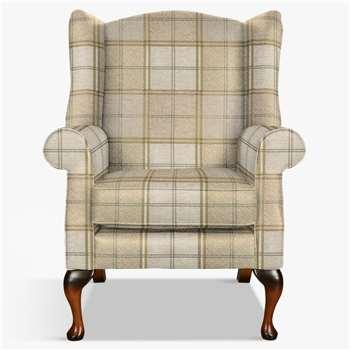 Parker Knoll Oberon Armchair, Harris Check Caramel (H112 x W83 x D82cm)