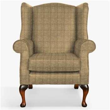 Parker Knoll Oberon Armchair, Murray Herringbone Gold (H112 x W83 x D82cm)