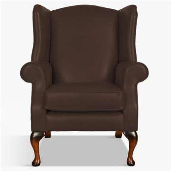 Parker Knoll Oberon Leather Armchair, Como Chocolate Leather (H112 x W83 x D82cm)