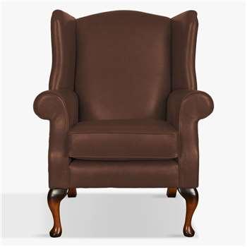 Parker Knoll Oberon Leather Armchair, Como Oak Leather (H112 x W83 x D82cm)