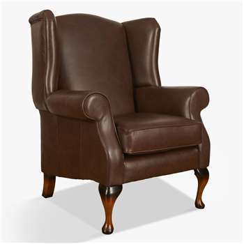 Parker Knoll Oberon Leather Chair, Dallas Leather (H109 x W84 x D87cm)