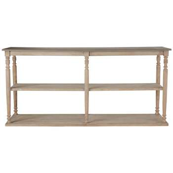 Parkstead Wood Console Table with Shelves - Wood (85 x 180cm)