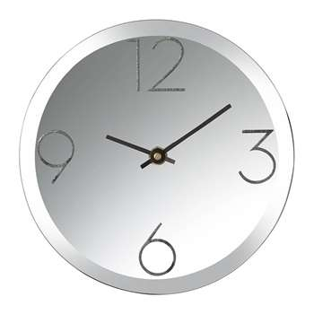 Parlane - Mirrored Desk Clock - Black (H20 x W20cm)