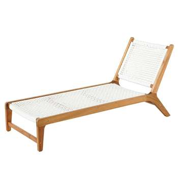 PAROS Acacia and White Cord Sun Lounger (71.5 x 59cm)