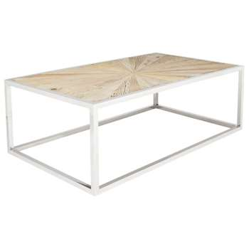 Parquet Coffee Table - Recycled Elm (40 x 120cm)