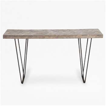 Parquet Console Table - Natural (H80 x W140 x D35cm)