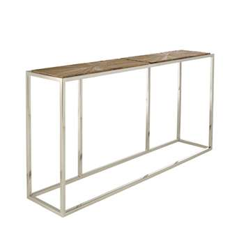 Parquet Console Table, Small - Natural (71 x 140cm)