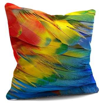 Parrot Feather Print Cushion (45 x 45cm)