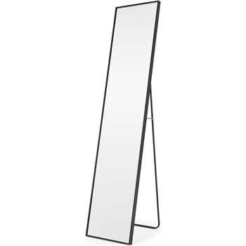 Parton Freestanding Full Length Mirror, Matt Black (H153 x W37 x D37cm)