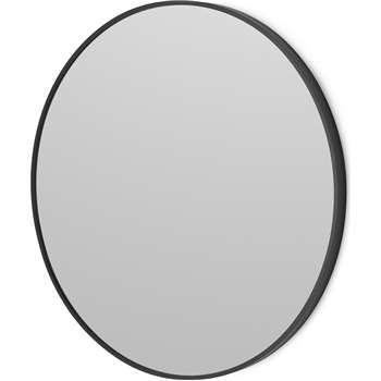 Parton Round Wall Mirror, Matte Black (Diameter 60cm)