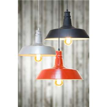 Pascal Red / Black / Silver  Vintage Pendant Light (160 x 36cm)