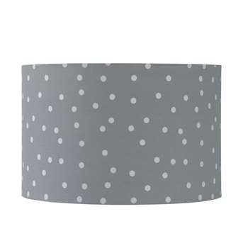 PASTEL Grey Fabric Pendant with Polka Dots (23 x 35cm)