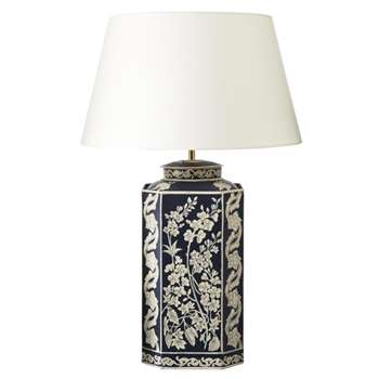 Patera Handpainted Table Lamp - Blue (36 x 18cm)