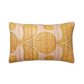 Patok Cushion Cover, Small - Gold/Sage (35 x 60cm)