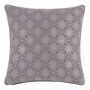 Patterned Midnight Blue Cotton Cushion Cover (H40 x W40cm)
