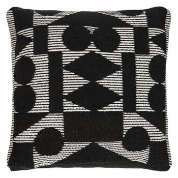 PATTERNITY + John Lewis Reflect Floor Cushion, Black (70 x 70cm)