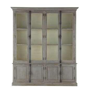 PAUILLAC Recycled wood wardrobe in grey (230 x 200cm)