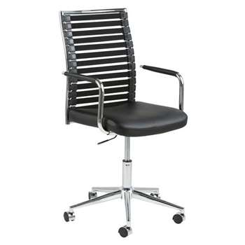 Paul Desk Chair Black (H106 x W48 x D58cm)