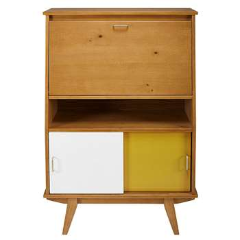 PAULETTE Tricoloured 3-door writing desk (125 x 86cm)