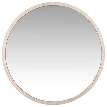 PAULIN - Round Natural Mirror (H50 x W50 x D2cm)