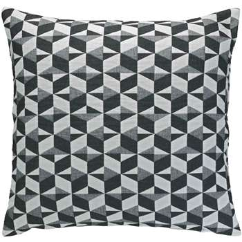 Paulista Black And White Quilted Cushion 60 X 60cm