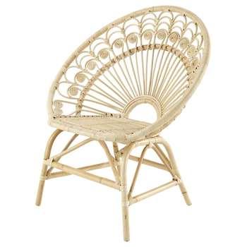 PEACOCK Rattan Vintage Armchair (H89 x W83 x D65cm)
