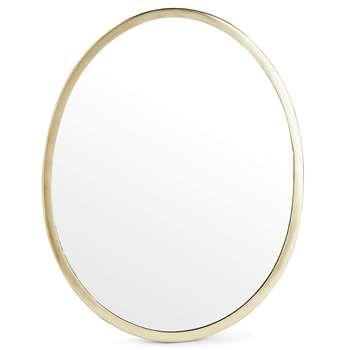 Pebble Mirror, Antique Gold (H46 x W34.5 x D1.5cm)