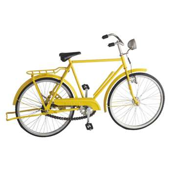 Peddle Yellow metal decorative bike object