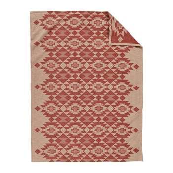 Pendleton - Yuma Star Jacquard Blanket - Clay (168 x 244cm)