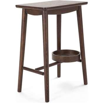 Penn Bedside Table, Dark Stain Ash (54 x 42cm)