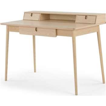 Penn Desk, Pale Ash and Eton Blue (85 x 118cm)