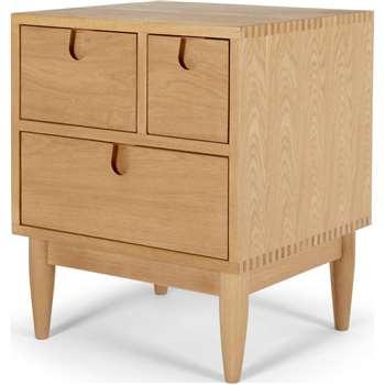Penn Multi-Drawer Bedside Table, Oak (55 x 42cm)
