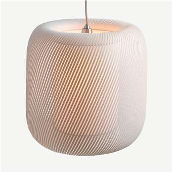 Penny Pendant Lamp Shade, Muted Grey (H38 x W38 x D38cm)