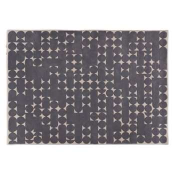 Habitat Penrose Patterned Wool Rug - Grey (H170 x W240cm)