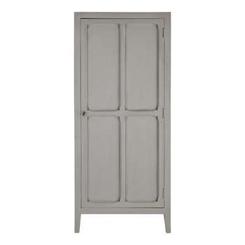 PENSIONNAT - Mango Wood Wardrobe in Grey (H180 x W75 x D50cm)